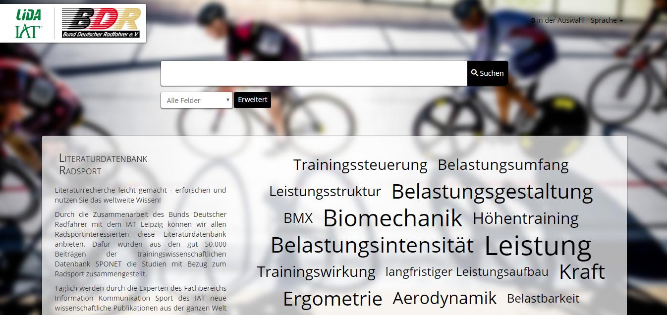 Startseite der Literaturdatenbank